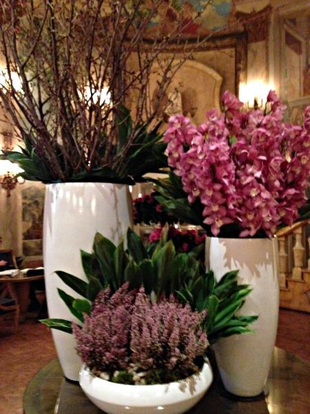 Flowers in the Pierre Rotunda Room