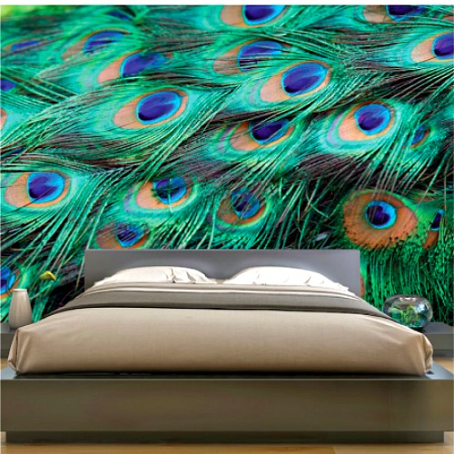 Peacock wall covering