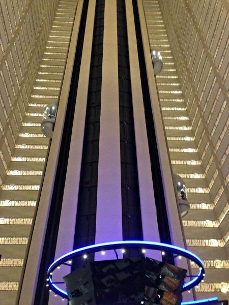 Marriott Marquis glass elevators
