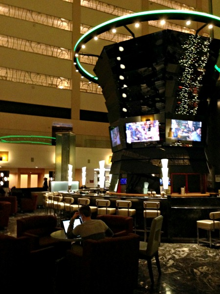 A lobby bar at the Marriott Marquis