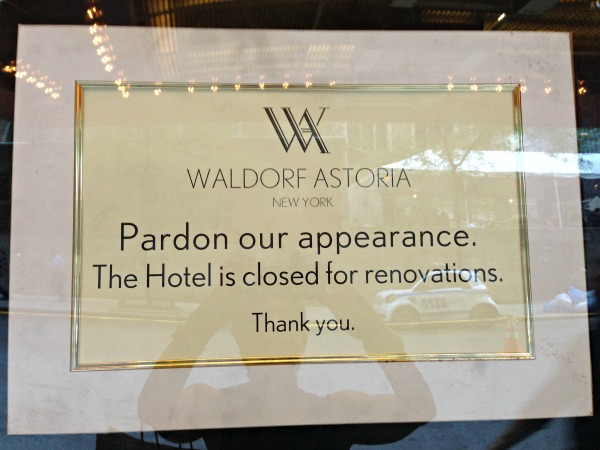 Posted on the Waldorf Astoria